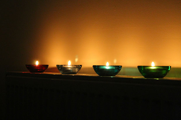 candles - stress relief tips list
