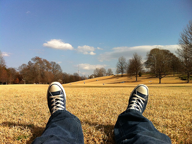 Converse shoes outside - stress relief tips list