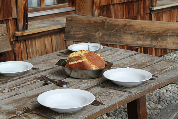 table with bread - stop cushioning your home with fear